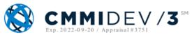 CMMI DEV /3 - Exp 2022-09-20 / Appraisal #3751